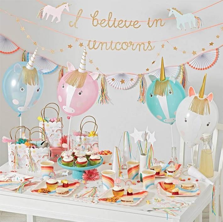 Unicorn versiering voor het kinderfeestje oh yeah baby for Decoratie verjaardag