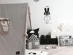 MiniWilla konijnen aan de muur