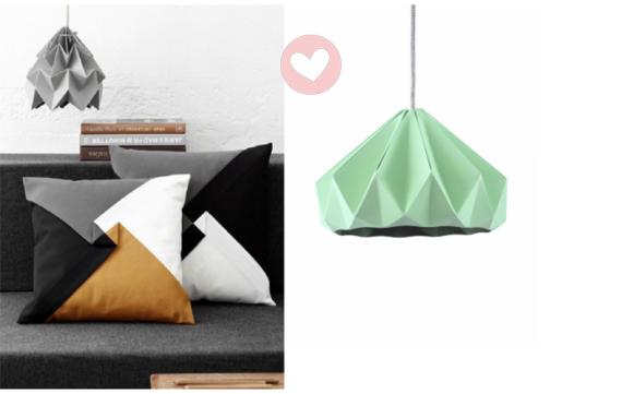 Origami lampen van Studio Snowpuppe!