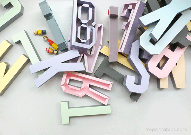 download 3D letters