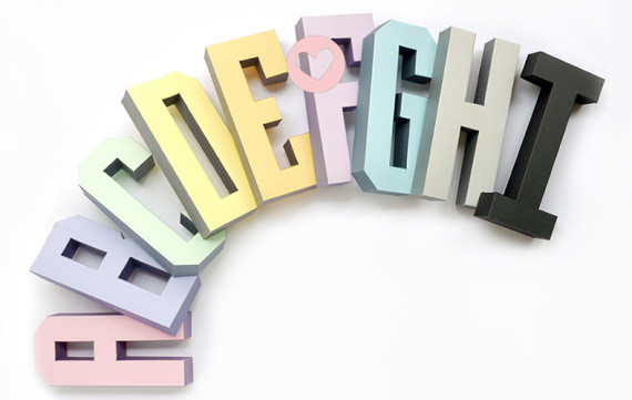 Gratis download 3D letters