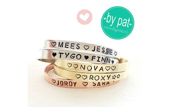 Winnen: gepersonaliseerde armband van By Pat!