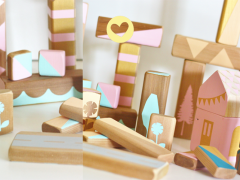 Bijzondere handgemaakte houten blokken