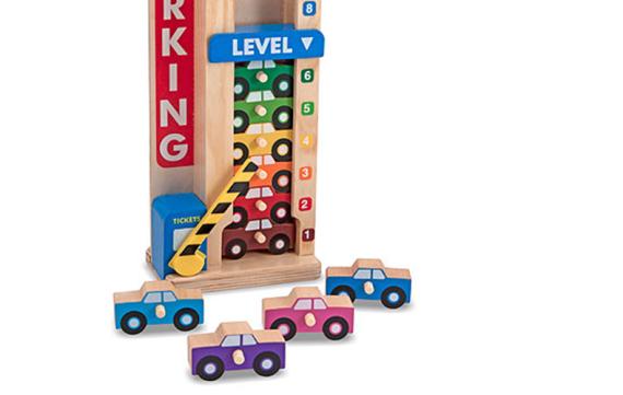 Stapelgarage: rijden, tellen en kleuren herkennen!