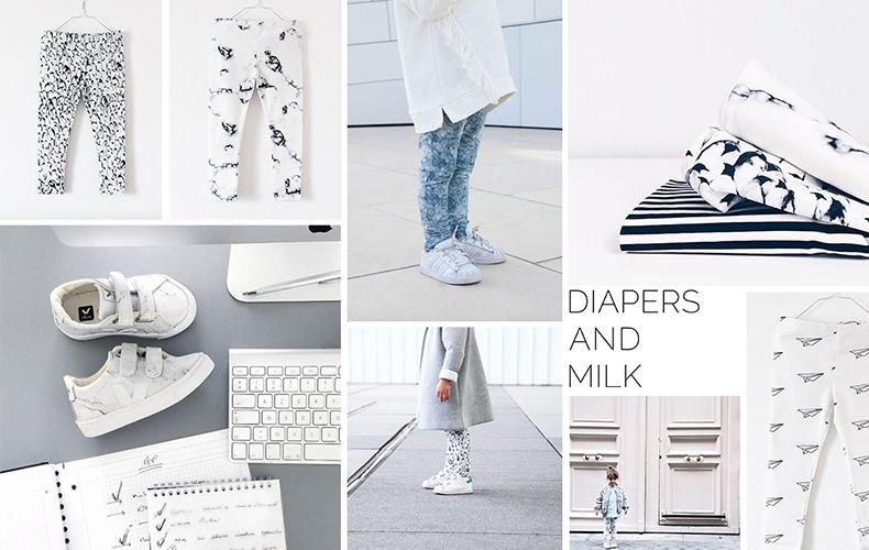 Diapers and Milk rocken de monochrome trend!