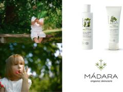 Mádara organic skincare voor baby's en kids