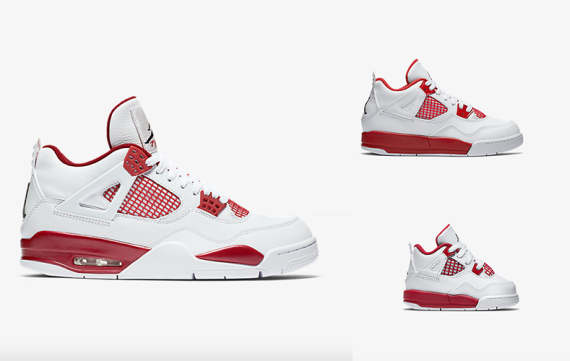 Nike Air Jordan 4 Retro voor het hele gezin!