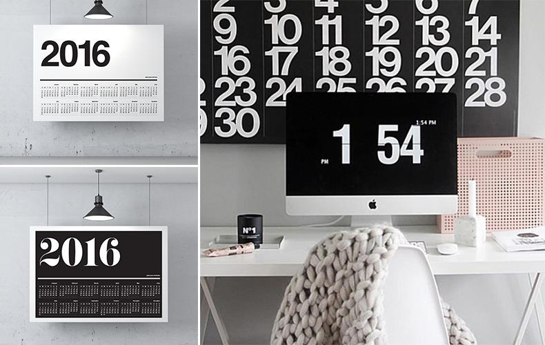 Mooie monochrome kalenders voor 2016!