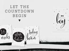 Paqhuis baby countdown cards tijdens je zwangerschap!