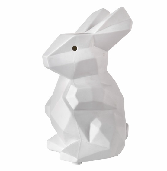 origami konijn kinderlamp pols potten