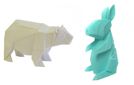 Lampen in origami stijl