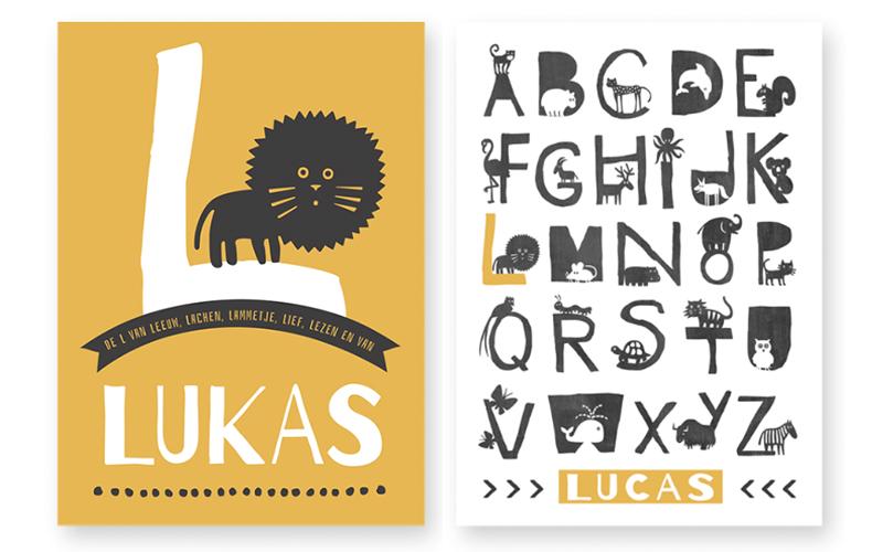 dieren naamposter