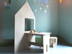 Duurzaam houten speelhuis en speelplek in één