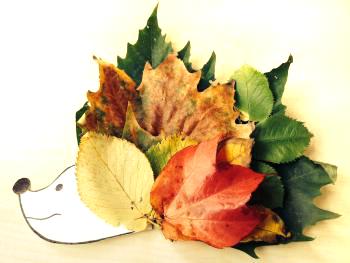 knutselen-met-herfstbladeren-egel