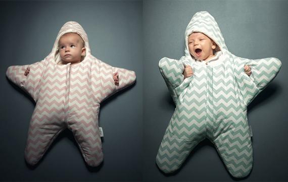 Jouw kleine ster in een ster slaapzak!