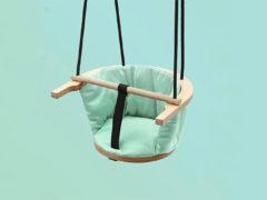 Design schommel die je overal kunt ophangen