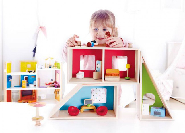 hape design poppenhuis oh yeah baby