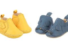 Leren eco babyslofjes met lieve designs!