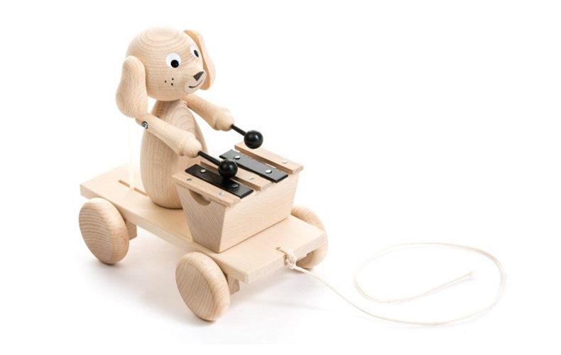 Naturel houten dieren speelgoed