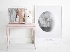 Winnen: Geboorteposter met de maanstand