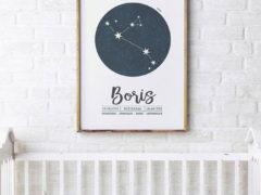 Beauty van een gepersonaliseerde sterrenbeeld poster