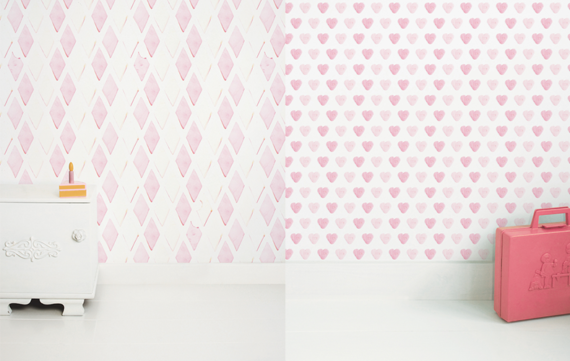 Behang voor snoepkonten op de kinderkamer!