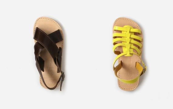 Mooie leren sandalen voor moeder en kind