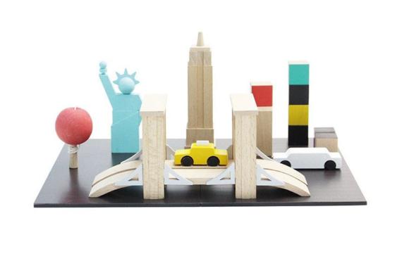Houten speelgoed van Londen en New York!