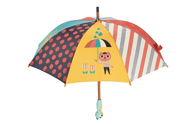 Met zo'n te gekke kinderparaplu dans je in de regen!