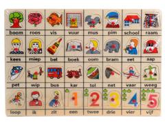 Nostalgische houten eerste woordjes puzzel!