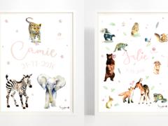 Naamposter met dieren!