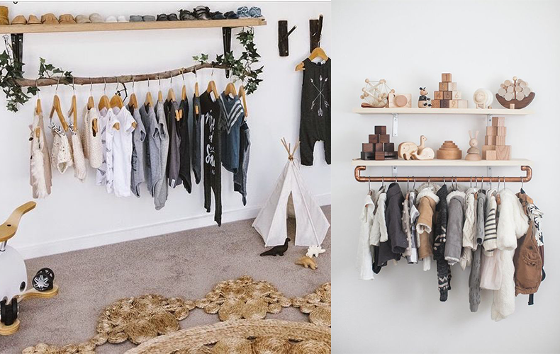 8 x DIY kledingrek voor de kinderkamer!