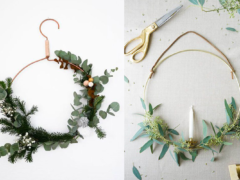 De mooiste DIY minimalistische kerstkransen