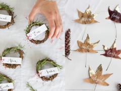 De leukste natuurlijke DIY naambordjes voor het kerstdiner (en andere gelegenheden)