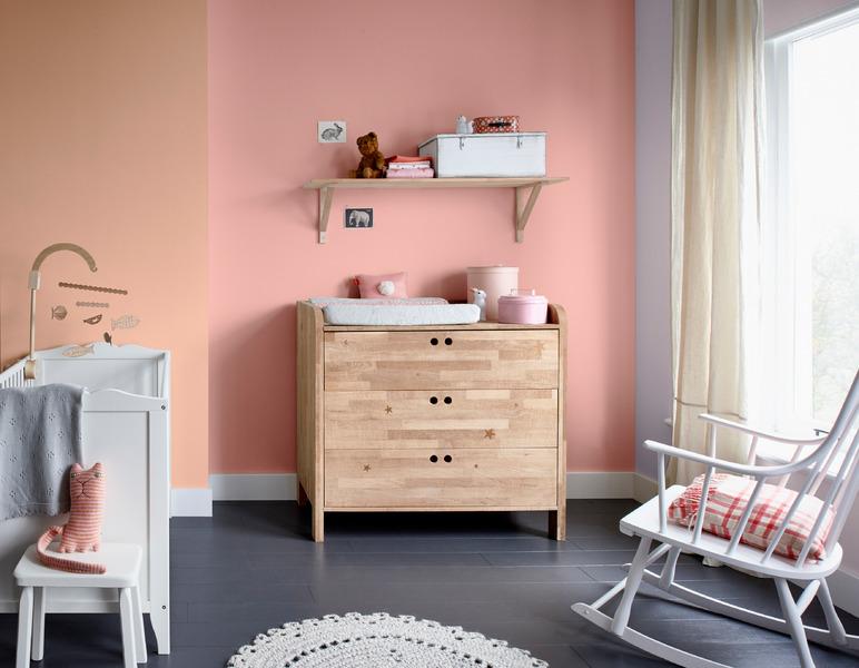 kleur in de babykamer flexa