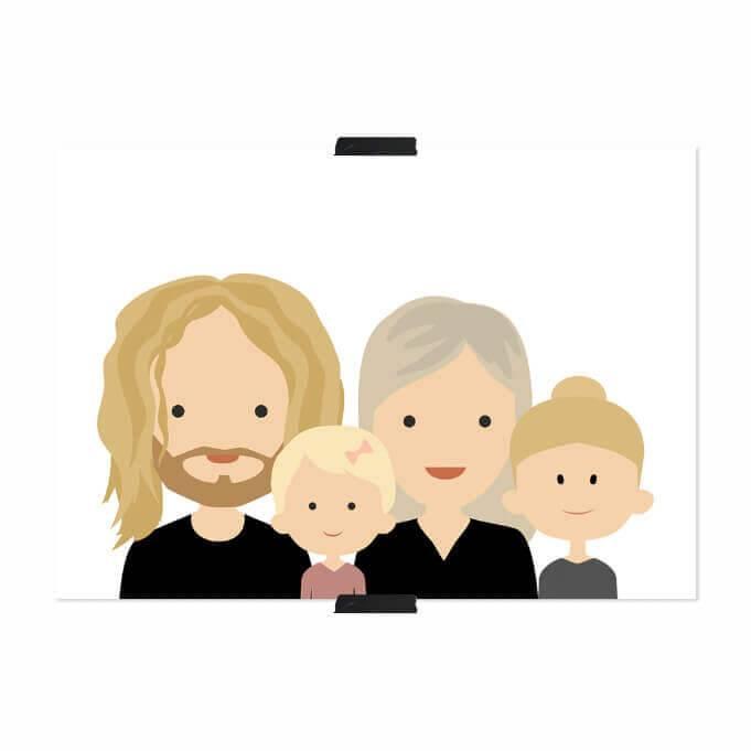 gepersonaliseerde familie poster