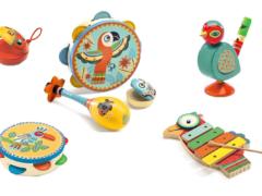 Houten muziekinstrumenten met dieren in de hoofdrol!