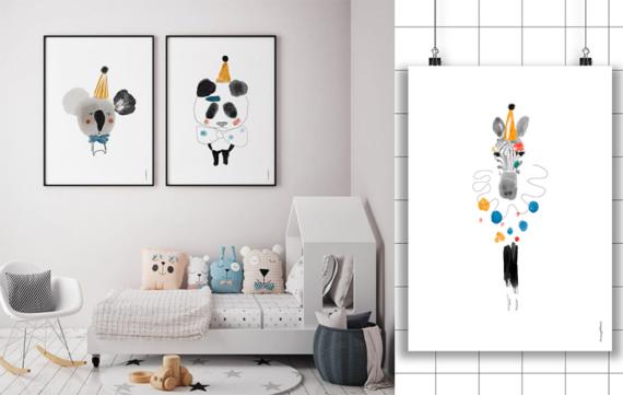 Kleurrijke posters voor de kinderkamer!