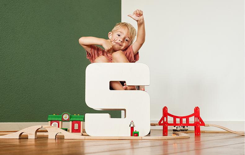 Qboo lettermeubels voor kids
