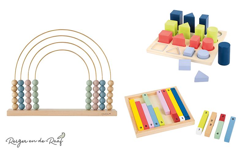 Leerzaam houten speelgoed voor alle leeftijden!