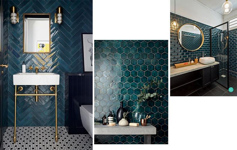 turquoise tegels badkamer